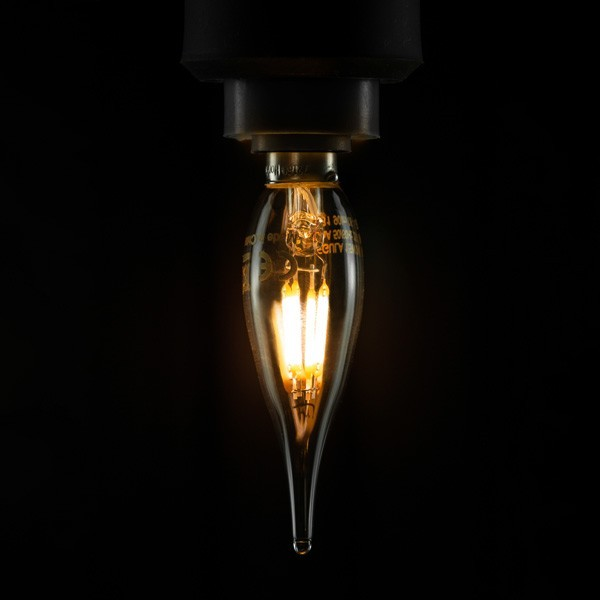 Segula 50234 Vintage Line1.5W 2200K Dimmable E10 Clear French Candle LED Bulb