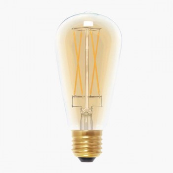 Segula 50295 Vintage Line 6W 2000K Dimmable E27 Golden Rustica Long Style LED Bulb