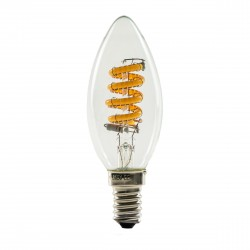 Segula 50300 Ambient Line 4W 2000-2800K Dimmable E14 Clear Candle LED Bulb with Curved Filament