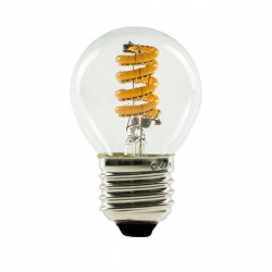 Segula 50306 Ambient Line 4W 2000-2800K Dimmable E27 Clear Golfball LED Bulb with Curved Filament