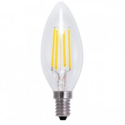 Segula 50313 Vintage Line 4W 2600K Dimmable E14 Clear Candle LED Bulb