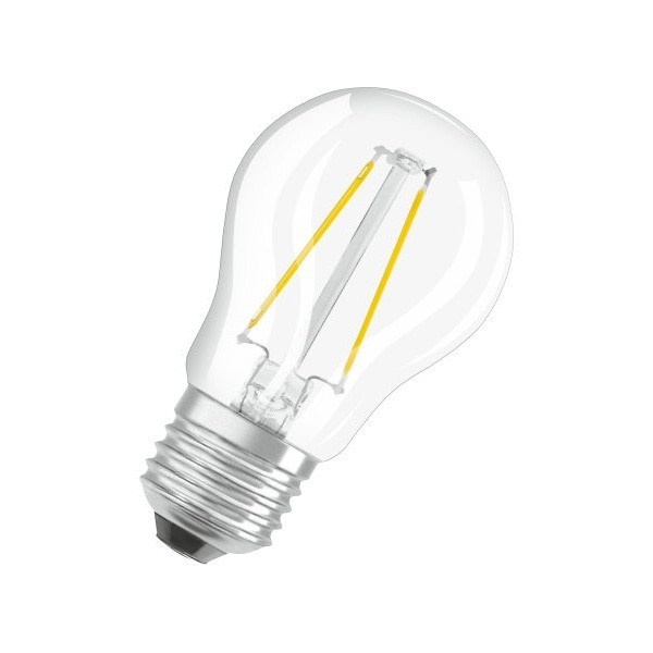 LEDADVANCE P40DFC827E27 Osram Parathom Retrofit Classic P 5W 2700K Dimmable E27 Clear LED Golf Ball Bulb