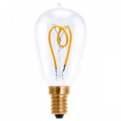 Segula 50522 Design Line 2.7W 2200K Dimmable E14 Clear Radio Style LED Bulb with Curved Loop Filament