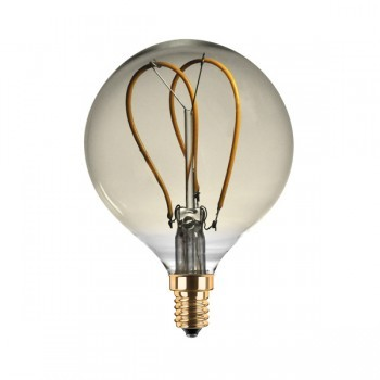 Segula 50523 Design Line 4W 2000K Dimmable E14 Golden Globe 80 LED Bulb with Curved Loop Filament