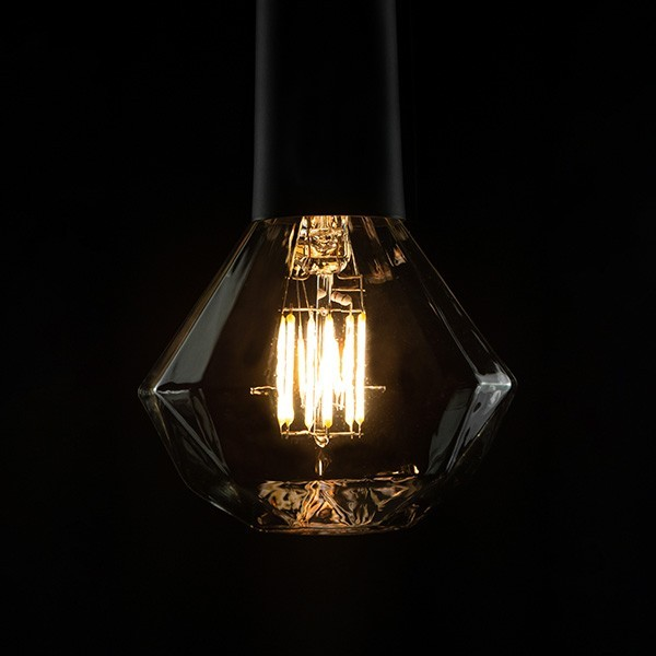 Segula 50706 Ambient Line 8W 2000-2900K Dimmable E27 Clear Diamond LED Bulb