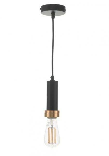 Dar Lighting SP6522 Accessory 1 Light Suspension Matt Black And Copper