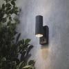 Forum Lighting ZN-29179-ANTH Leto 2-Light Outdoor PIR Wall Light