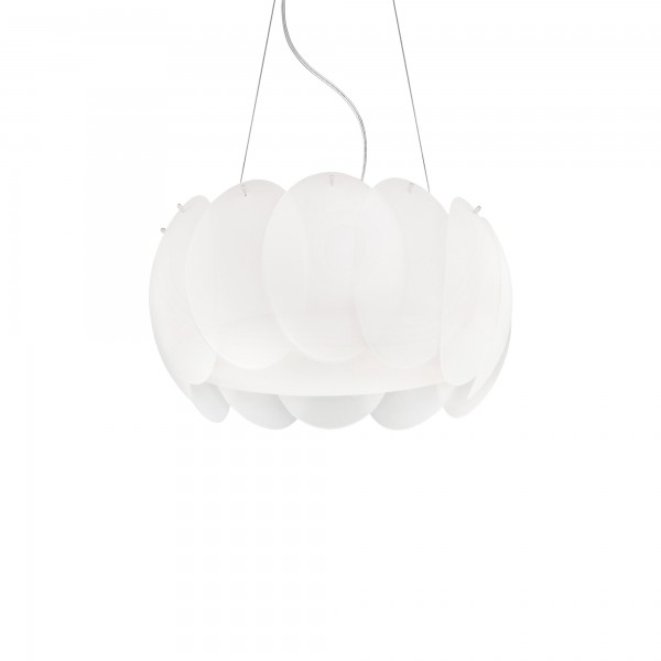 Ideal Lux 074139 Ovalino SP5 Curved Acid-Etched Glass Diffuser