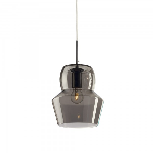 Ideal Lux 088938 Zeno SP1 Large Blown Smokey Grey Glass Diffuser