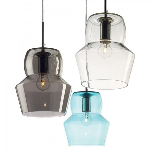 Ideal Lux 036120 Zeno SP1 Small Blown Light Blue Glass Diffuser
