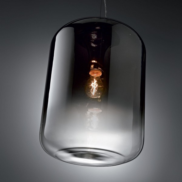 Ideal Lux 112084 Ken Small Blown Smokey Glass Pendant