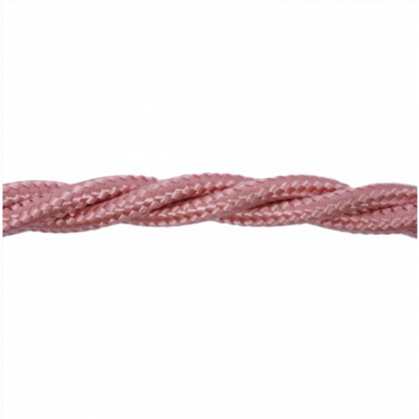 Love4Lighting CABTRE31070 1m Length of Pink Braided Cable
