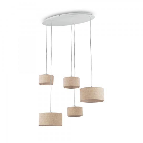Ideal Lux 110868 Ekos 5 Light Drum Shade Pendant