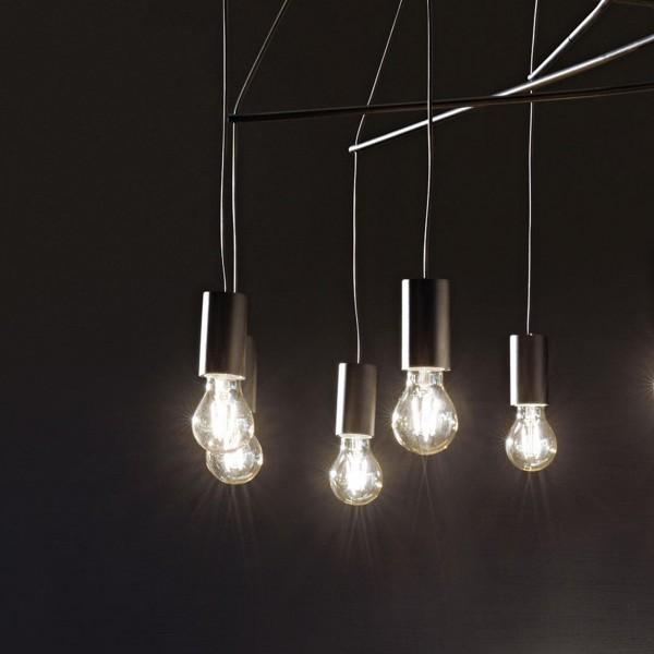 Ideal Lux 158815 Pop 6 Light Black Pendant