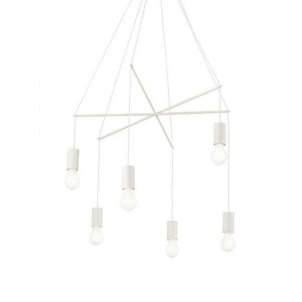 Ideal Lux 186795 Pop 6 Light White Pendant