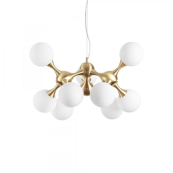 Ideal Lux 241036 Nodi 9 Light Satin Brass Pendant
