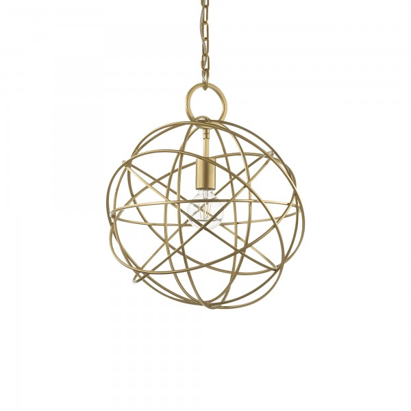 Ideal Lux 155968 Konse 1 Light Gold Pendant