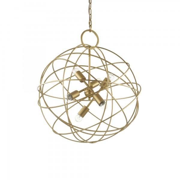 Ideal Lux 156026 Konse 6 Light Gold Pendant