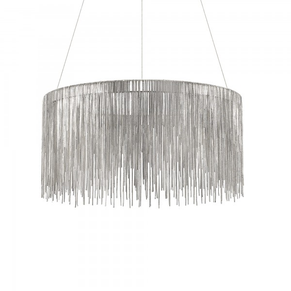 Ideal Lux 137032 Versus Chrome Circular Pendant with Hanging Chains
