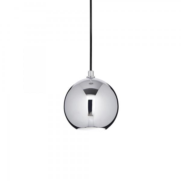 Ideal Lux 116464 Mr Jack SP1 Big Chrome Glass Globe Pendant