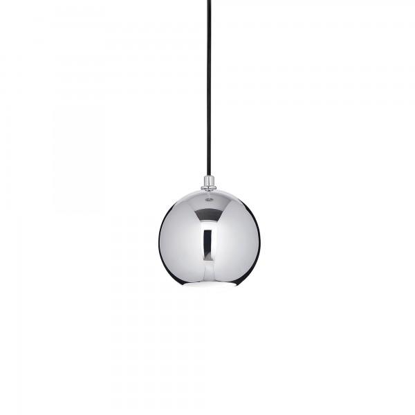 Ideal Lux 116457 Mr Jack SP1 Small Chrome Glass Globe Pendant