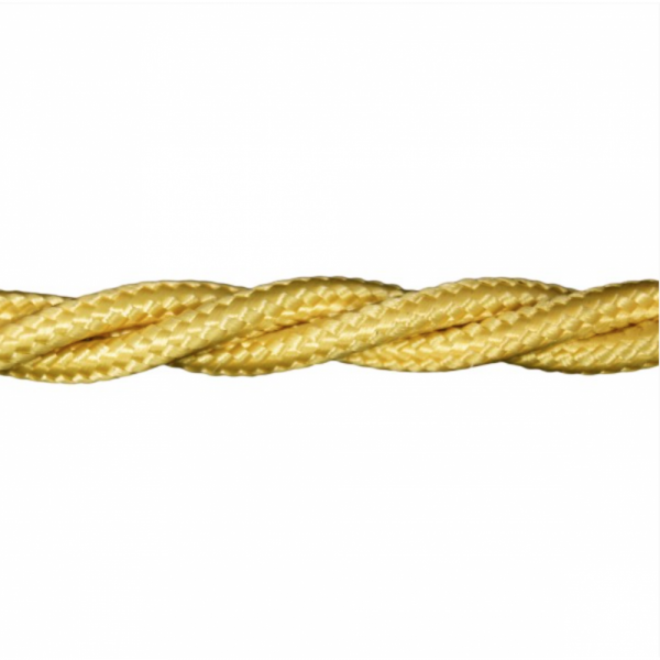 Love4Lighting CABTRE31066 1m Length of Yellow Braided Cable