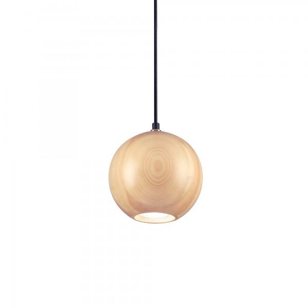 Ideal Lux 140995 Mr Jack SP1 Big Globe Pendant in Natural Wood