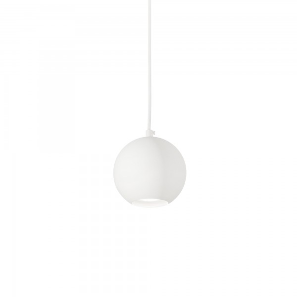 Ideal Lux 231228 Mr Jack SP1 Small Globe Pendant in White Metal