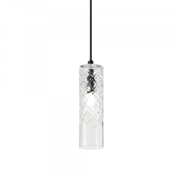Ideal Lux 167107 Cognac-3 SP1 Pendant with Embossed Shade