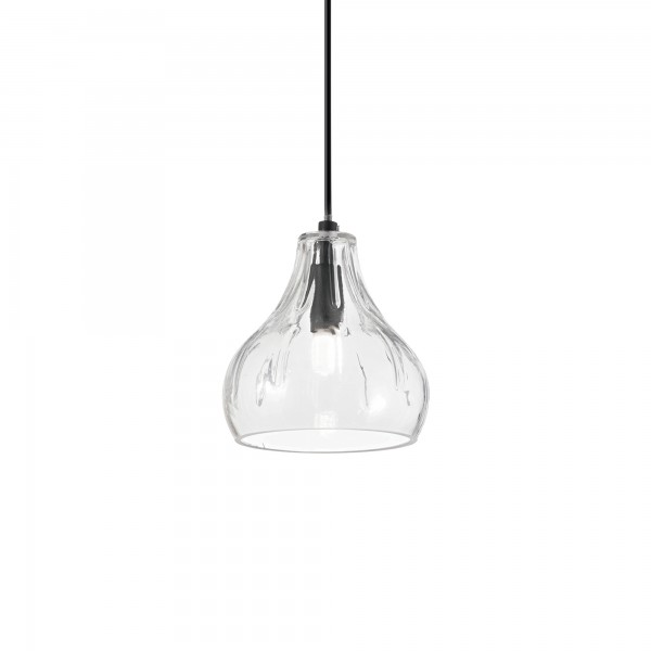 Ideal Lux 167022 Cognac-4 SP1 Pendant with Glass Shade