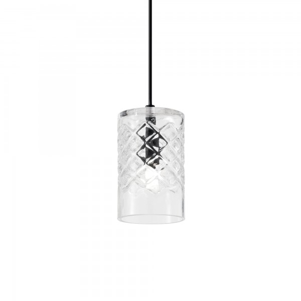 Ideal Lux 167015 Cognac-2 SP1 Pendant with Embossed Shade