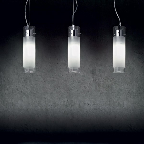 Ideal Lux 027364 Flam SP1 Big Frosted Glass Pendant