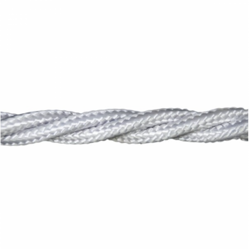 Love4Lighting CABTRE31064 1m Length of Matt White Braided Cable