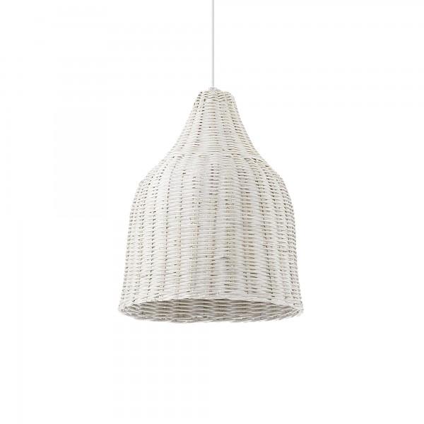 Ideal Lux 159256 Haunt White Wicker Basket Pendant