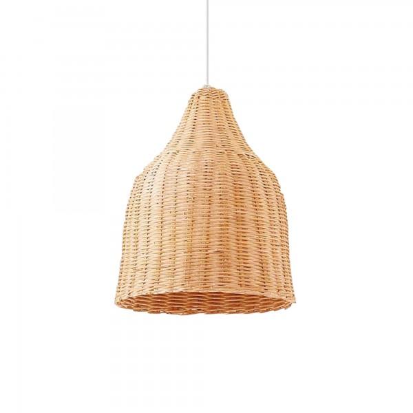 Ideal Lux 159812 Haunt Natural Wicker Basket Pendant
