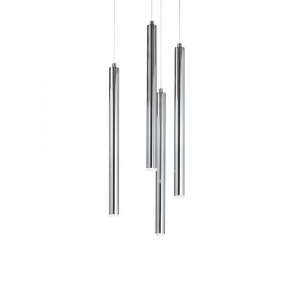 Ideal Lux 233475 Frozen SP4 Chrome Suspension Tubular LED Pendant
