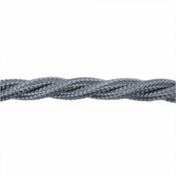 Love4Lighting CABTRE31063 1m Length of Silver Braided Cable