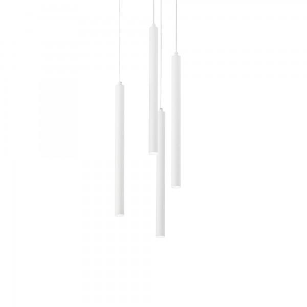 Ideal Lux 233444 Frozen SP4 Suspension Tubular LED Pendant in White