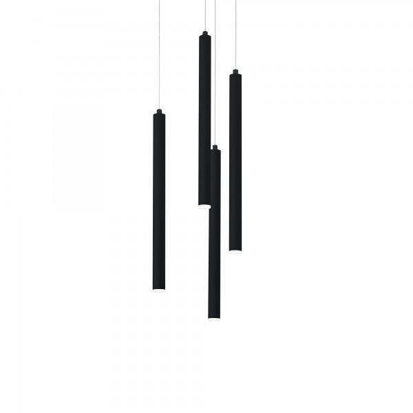 Ideal Lux 233468 Frozen SP4 Suspension Tubular LED Pendant in Black