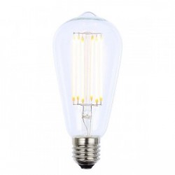 Forum Lighting Solutions INL-ST64-LED-ES-CLR INLIGHT Vintage 6W Warm White Dimmable E27 Clear LED Squirre...