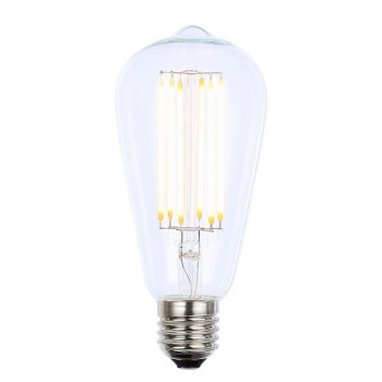 Forum Lighting Solutions INL-ST64-LED-ES-CLR INLIGHT Vintage 6W Warm White Dimmable E27 Clear LED Squirrel Cage Bulb