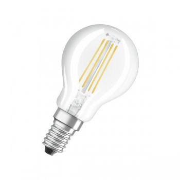 LEDVANCE P40DFC827E14 Osram Parathom Retrofit Classic P 5W 2700K Dimmable E14 Clear LED Golf Ball Bulb
