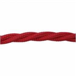 Love4Lighting CABTRE31062 1m Length of Red Braided Cable