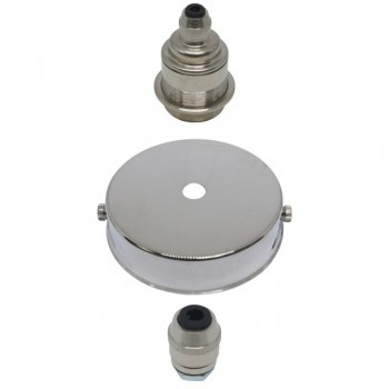 S. Lilley & Son 80mm Single Light Nickel Pendant Kit