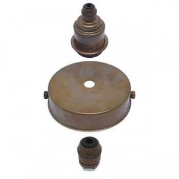 S. Lilley & Son 80mm Single Light Old English Brass Pendant Kit