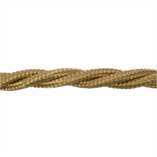 Love4Lighting CABTRE31045 1m Length of Light Brown Braided Cable