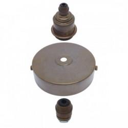 S. Lilley & Son 100mm Single Light Old English Brass Pendant Kit