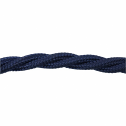 Love4Lighting CABTRE31035 1m Length of Dark Blue Braided Cable