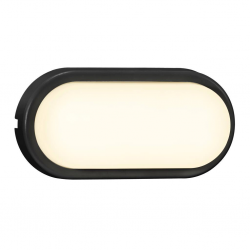 Nordlux 2019191003 Cuba Bright Oval LED Outdoor Wall Light in Black