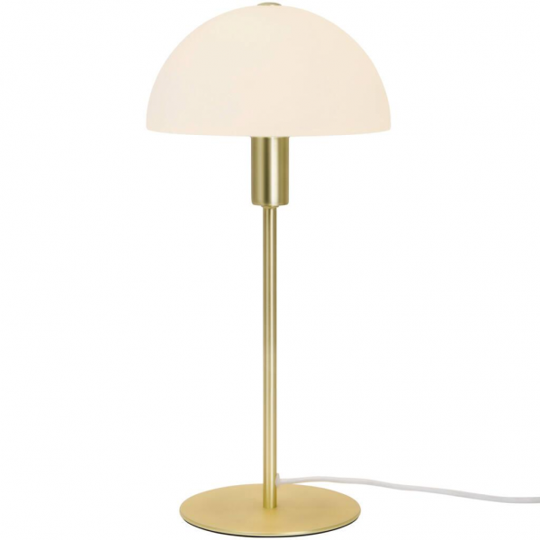 Nordlux 2112305035 Ellen E14 Opal Table Lamp in Brass